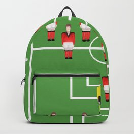 Soccer football team in red Backpack