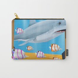 Australia Underwater shark travel poster Carry-All Pouch