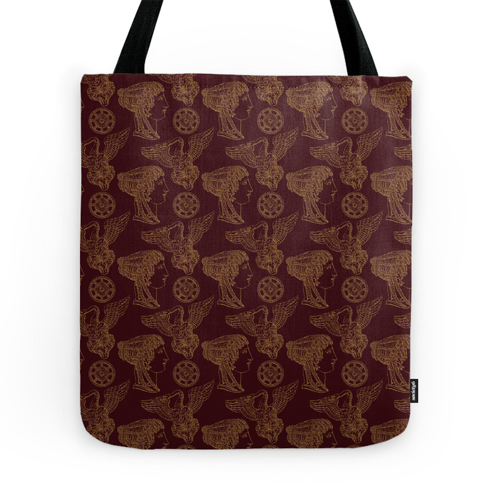 Empire Style Pattern Tote Purse by lalachandra (TBG9753557) photo