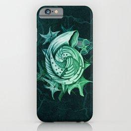 Dystopian Conch - Lambent Green iPhone Case