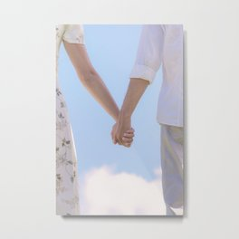 hand in hand Metal Print