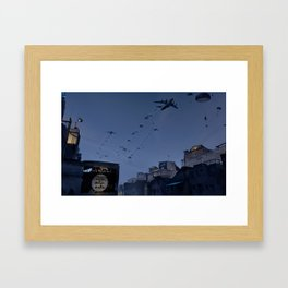 Airborne wake up call! Framed Art Print