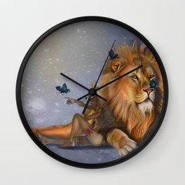 I Dream of Butterflies Wall Clock