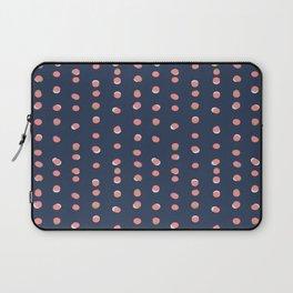Trendy Uneven Dots Navy | Children's Pattern Laptop Sleeve
