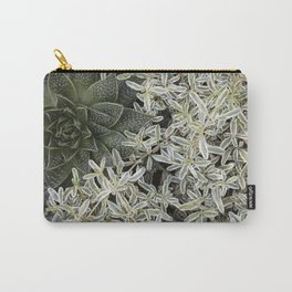 Silver Succulents Carry-All Pouch