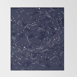 Constellation Map - Indigo Throw Blanket