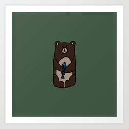 Lonely but cute Art Print