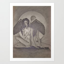 Love`s  Wings Art Print