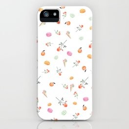 ROSES & MACARONS iPhone Case