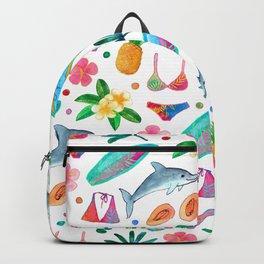Dotty Summer Beach Pattern Backpack