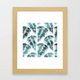 Maui Palm Leaf 2 green Framed Art Print