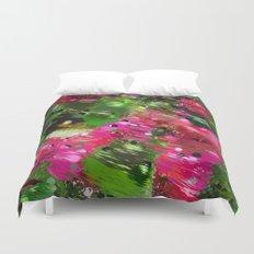 Summer Garden Abstract Duvet Cover