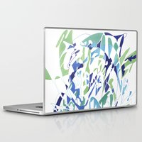 dolphins Laptop & iPad Skins featuring DOLPHINS by Alex Rocha