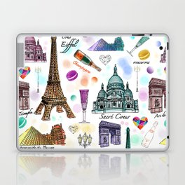 Voyage à Paris (Watercolor) Laptop & iPad Skin