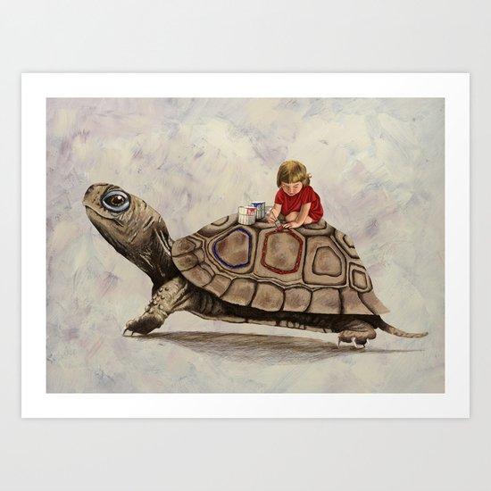 My Turtle Art Print