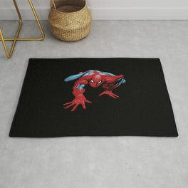 crawling spider man Rug