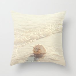 Seashell by the Seashore I Throw Pillow