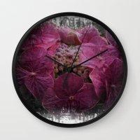 hydrangea Wall Clocks featuring Hydrangea by Paul & Fe Photography