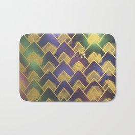 Gold Chevron Pattern Bath Mat