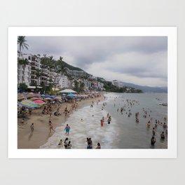 Beach Day, Puerto Vallarta Art Print