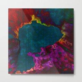 colorful ink volcano Metal Print