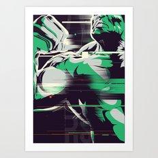 Glitch Hulk Art Print