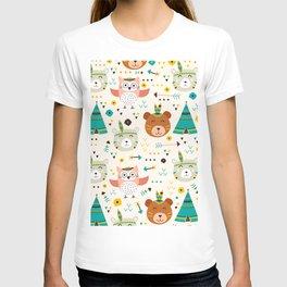adorable boho animals T-shirt