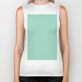 Aquamarine Solid Color Biker Tank
