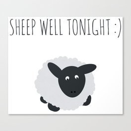 Sheep Well Tonight Canvas Print