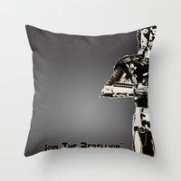 c3po Throw Pillows featuring C3PO by KL Design Solutions