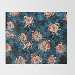 Сhrysanthemums Throw Blanket
