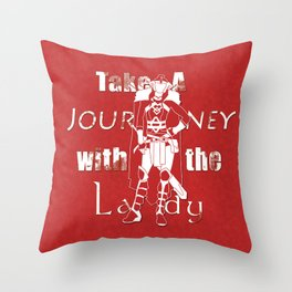 Take A Journey With The Lady Throw Pillow