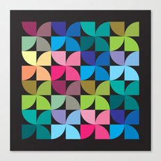 colorful semicircle pattern Canvas Print