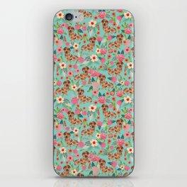 Dapple Dachshund cream doxie lover floral must have gifts dachsie flowers iPhone Skin