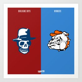 Boulogne Boys VS South Winenrs (Paris VS Marseille) Art Print