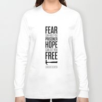 stephen king Long Sleeve T-shirts featuring Lab No. 4 - Hope Inspirational Quote by Stephen King Inspirational Quotes by Lab No. 4