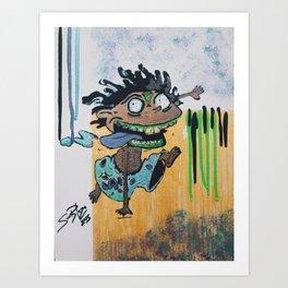  Zombie Donnie  Art Print