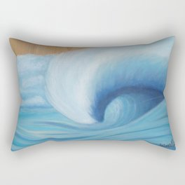 Wooden Wave Scape Rectangular Pillow