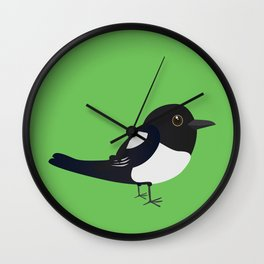 Cute magpie Wall Clock