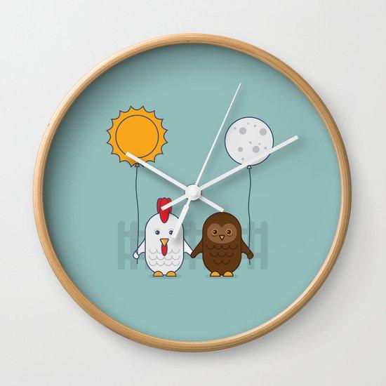 Early Bird & Night Owl Wall Clock