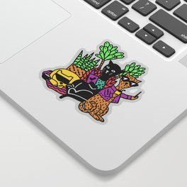 OmniFocus 3 Cool Cats Sticker