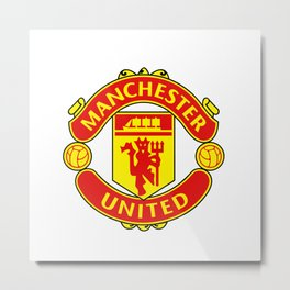 Manchester United Logo Metal Print
