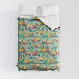 Dinosaur Construction Crew Pattern Comforters