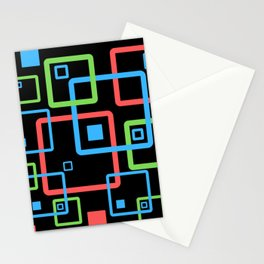 multicolor geometric squares Stationery Cards