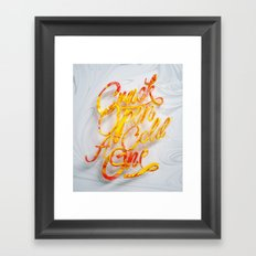 Crack Open A Cold One Framed Art Print
