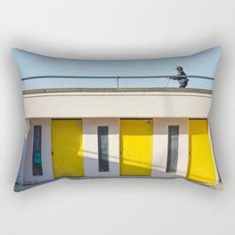 In scooter, yellow cabins Rectangular Pillow