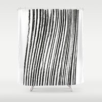 birch Shower Curtains featuring Birch by ilyya