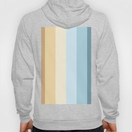 striped color pattern - brown , yellow, blue Hoody