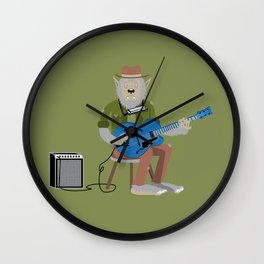 Werewolf Blues Wall Clock