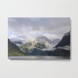 Rainbow to Nowhere Metal Print